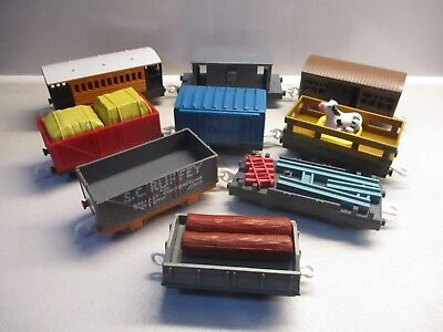 tomy trackmaster thomas the tank engine train set mixed carriages trucks