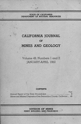 BEST book, LAST ONE, gold mines, San Bernardino County, Calif, RARE old 1st ed