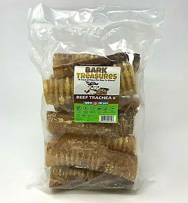 Bark Treasures | Beef Trachea 6 inch | 10 COUNT | USDA-FDA Approved