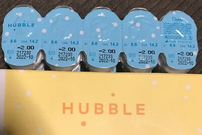 HUBBLE contacts -2.00 DAILY use 30 Ct FREE SHIPPING