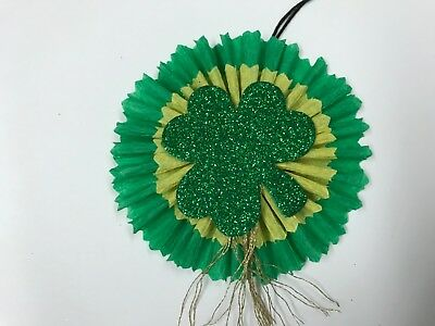 Saint patricks day feather tree ornaments, Chenille gift tags, item# 21A