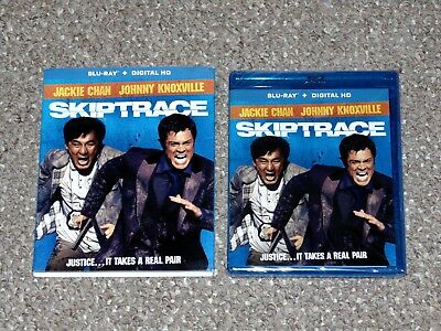 Skiptrace Blu-ray 2016 Brand New with Slip Cover Jackie Chan Johnny Knoxville
