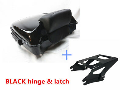 Razor Tour Pak Pack Trunk +Pad w/ Two-Up Rack For Harley Road Street Glide 14-19