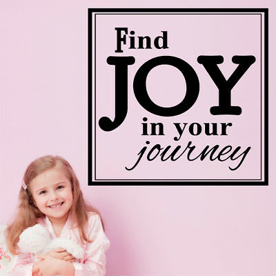 Find Joy In Your Journey Wall Quote Decal Stickers Insirational Art