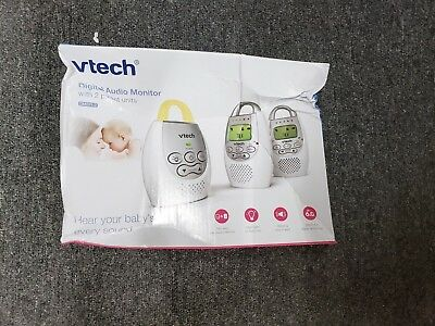 VTech DM221-2 Safe Sound Digital Audio Baby Monitor with Two Parent Units