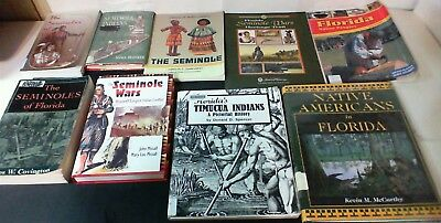 9 Books on Florida Native Indians, Seminoles, Timucua & more with Free Shipping