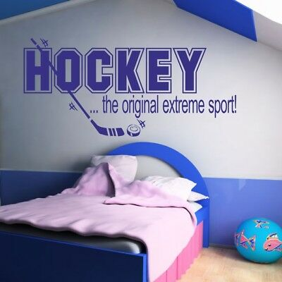 HOCKEY wall stickers ice player sports bedroom kids stickers decal art vinyl
