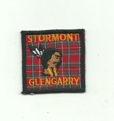 Scout Canada Stormont Glengarry District Area Region Plaid Patch Indian Insignia