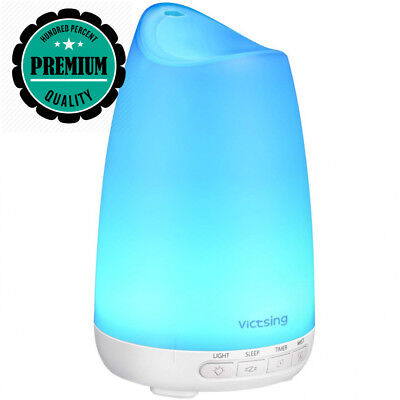 VICTSING 150ml Mini Aromatherapy Essential Oil Diffusers for with 8-Color...