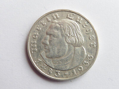 H75    DRITTES REICH 2,- Mark 1933 G Luther