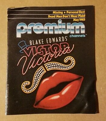 """Premium Channels TV Guide May 1983 HBO / Showtime """"Victor Victoria"""" Ships ☆FREE☆"""