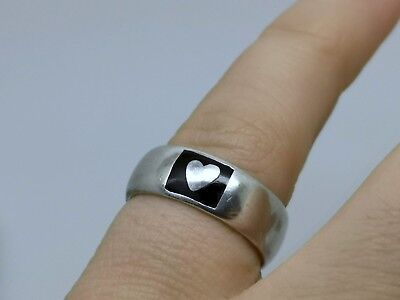 18ct Yellow Gold//925 Silver Heart Ring Affici Boxed Gift For Her Love Wife Mum