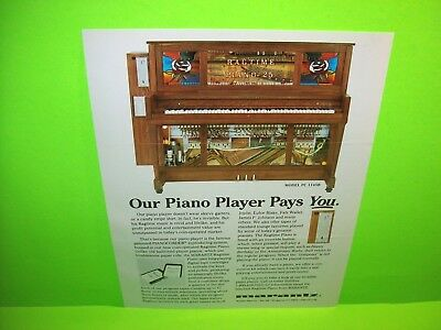 Marantz Model PC 1145B PianoCorder Ragtime Automatic Playing Piano Coin-Op Music