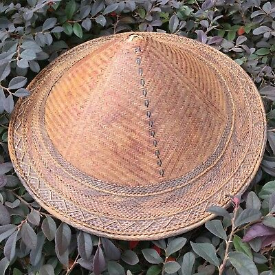 Antique Chinese or Japanese Child's basketry hat.   Extremely skilled maker.