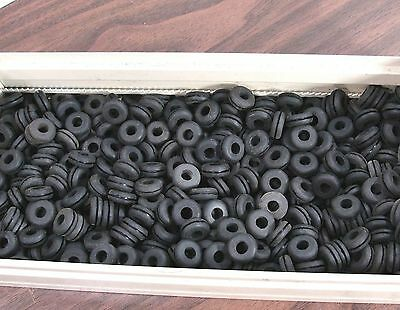"Lot 100X - 3/8"" Rubber Grommets Firewall Rings Feet Mounts Insulators Isolators"