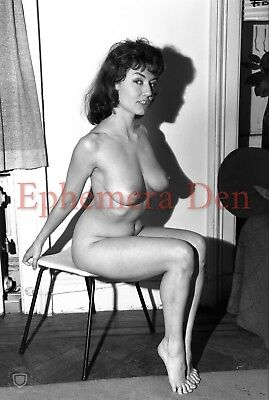 Vintage 50's Nude Model Photo 4x6 Print From Original Negative N-69