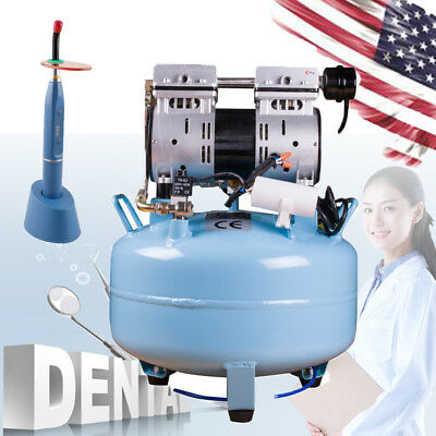 Dental Noiseless Oil Free Oilless Air Compressor 130L/min for 1PC Chair+Gift FDA