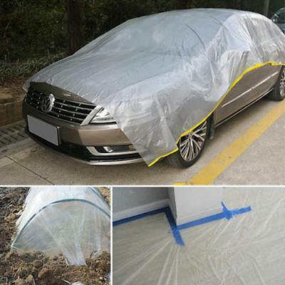 Disposable Temporary Universal Disposable Car Cover Rain Dust Garage FW