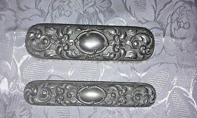 Beautiful Set Antique Ornate Silver Clothes Vanity Hair Dressing Table Brushes