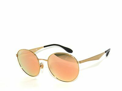 fb158a0106a RAY BAN SUNGLASSES 3517 GOLD BROWN MIRROR PINK 001 Z2 Folding Rayban ...
