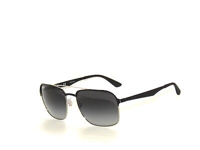 cbd52082b40 RAY BAN 3570 SILVER BLACK GRAY GRADIENT 9004 8G SunglaSSeS Rayban