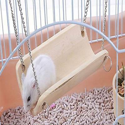 Small Pet Bamboo Swing Pet Hammock Rat Bird Hamster Bamboo Hanging Toys