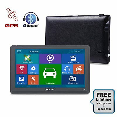 XGODY 7 Inch Car SAT GPS navigation 8GB Bluetooth AV-IN Jack for Parking Camera