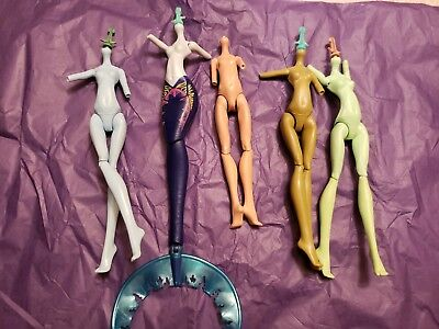 Monster High Doll Replacement Nude Bodies x5 Torso, Upper Arms, & Legs C3