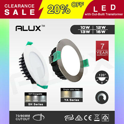 ALUX LED Downlight Kit Dim Ceiling Light Warm Daylight White 10W 12W 13W 16W