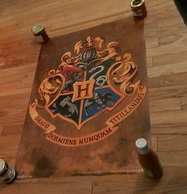 Harry Potter Hogwarts Crest Logo Movie Film Poster Classic image wall Collector