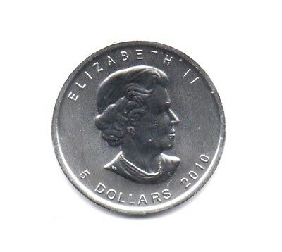 CANADA $5 Dollars 2010 (MAPLE LEAF) SILVER 1oz coin (.9999) NEW IN CAPSULE