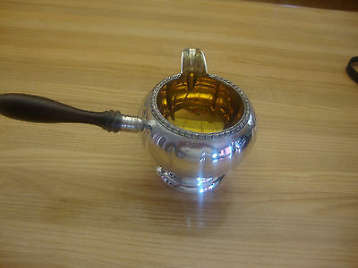 Silverplated Creamer Sp E.p Cooper Old English Reproduction 586 With Wood Handle