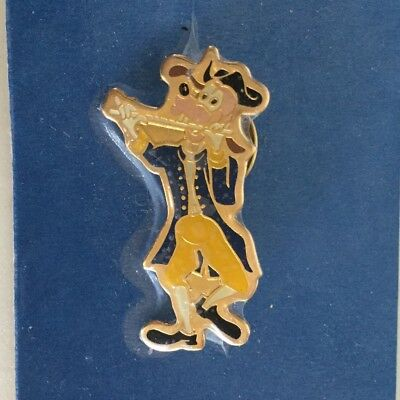 Goofy Dog Playing Fife Flute Patriotic Eastman Kodak Disney Enamel Pin 1989