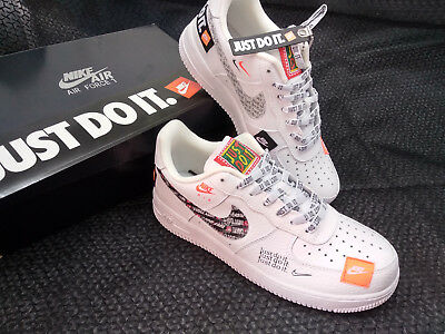 HOT NIKE AIR Force 1 07 PRM JDI Just Do It White Black Mens Shoes Sneaker..