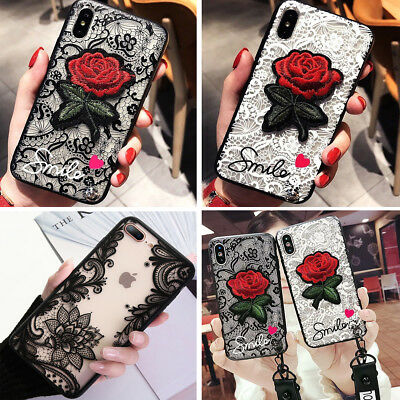 F Iphone 11 Pro Max 8 Plus XS Max XR Girls Cute Lace Protective Phone Case Cover
