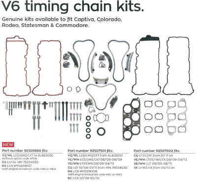 NEW GENUINE Holden Commodore Captiva Colorado Rodeo V6 Timing Chain Kit