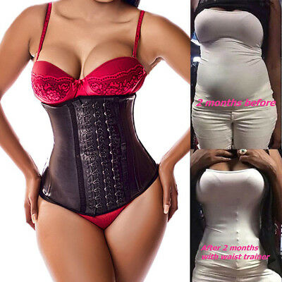 c21450a211f Latex Sport Waist Trainer Cincher Trimmer Slimming Corset For Weight Loss  Shaper