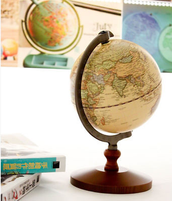 14cm World Globe Work Educational Decor Model Vintage Reference Atlases Map