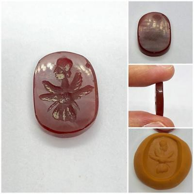 Antique Intaglio Angel Greek Roman Agate Carnelian Stone Rare!! Gift
