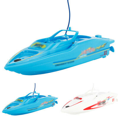 Kids High Speed Remote Control Race Boat Role Play Toy Durable Plastic & Metal