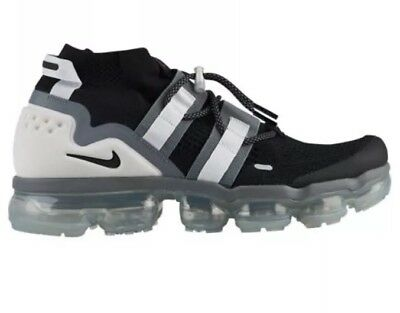 Nike Air Vapormax Flyknit Utility Black/Cool Grey/White/Pure Platinum Size 11