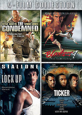 The Condemned/Bloodsport/Lock Up/Ticker (DVD, 2010, 3-Disc Set)