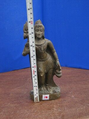 """8"""" Antique Old Rare Hand Carved Stone Collectible Religious Shiva Sculpture Idol"""