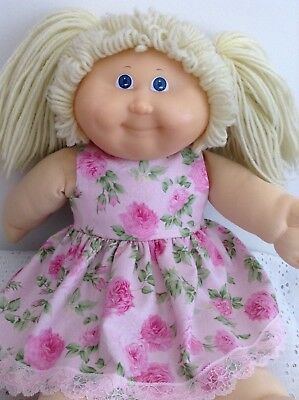"Handmade Dolls Clothes - 16""/43cm ~ Cabbage Patch Doll - Baby Born ~ Pink Roses"