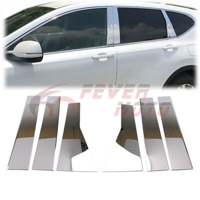 Fits Honda CR-V 07-11 Chrome Pillar Door Covers post window mirror trim ss