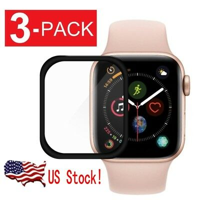 3-Pack 3D Screen Protector for Apple Watch Series 1 2 3 4 iWatch 38/44mm US