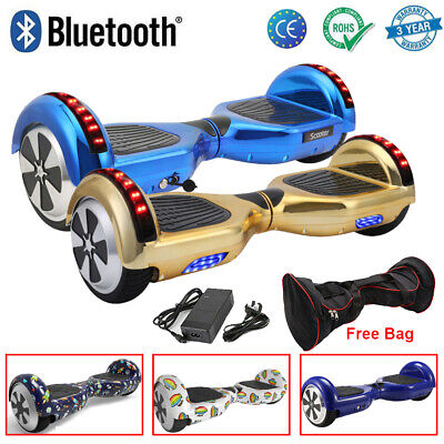 """6.5"""" Balance Board Self Balancing Scooter Bluetooth Electric Scooter+Music Gift"""