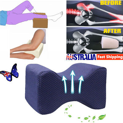 Memory Foam Leg Pillow Cushion Knee Support Pain Relief Washable Cover S8
