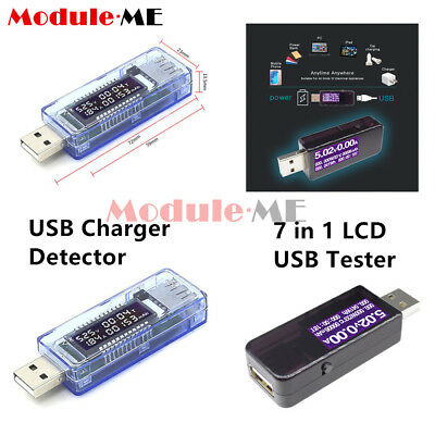 LCD USB Charger Medical Power Detector Test Of battery of Current Voltage Tester