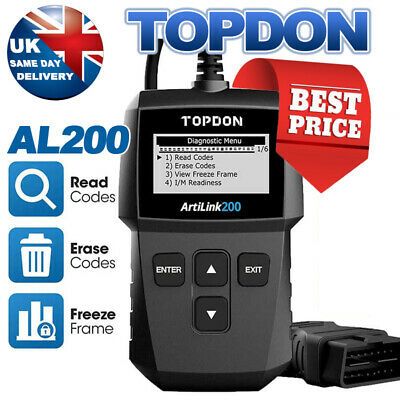 TOPDON TD309 Car Engine Fault Code Reader OBD2 EOBD CAN Reset Tool Scanner UK